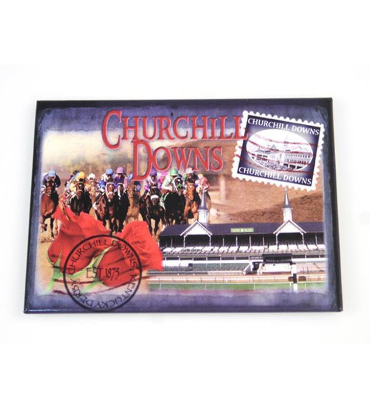 Churchill Downs Photo Magnet,382B3360 BLUE