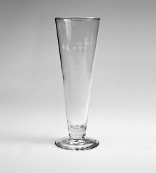 Churchill Downs Etched Pilsner Glass