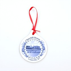 Churchill Downs Porcelain Ornament