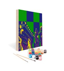 Paint by Number Art Kit--Across the Board Mini Kit