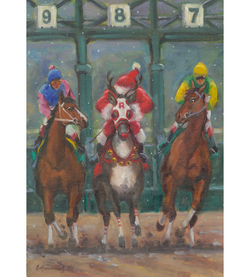 Reindeer Races Holiday Card Set,HOLIDAY ENTRY 1