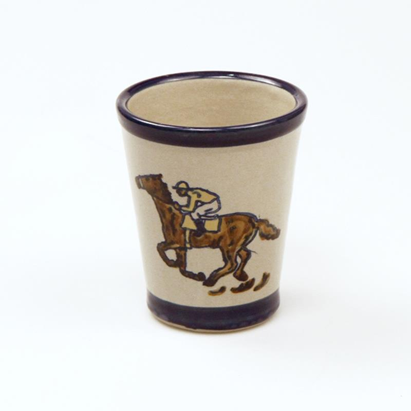 Running Horses Julep Cup by Louisville Stoneware,NRHD010 HORSES