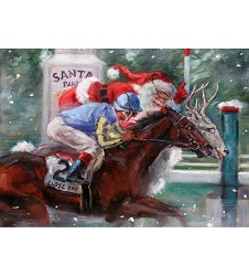 Santa Race Holiday Card Set