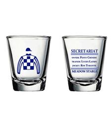Secretariat Meadow Stables Shot Glass