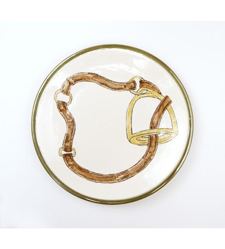 """Stirrup Plate by Louisville Stoneware,STRPD898 11"""""""