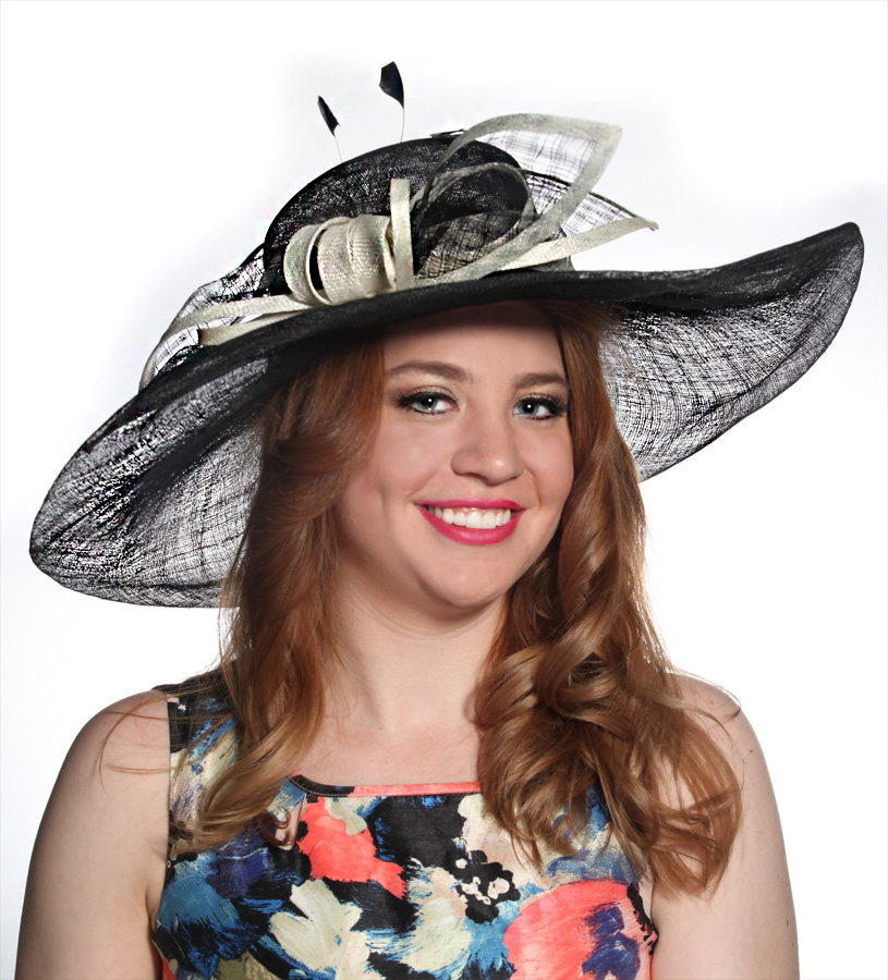 The Big Brim Checkered Hat,LD49-WHITE