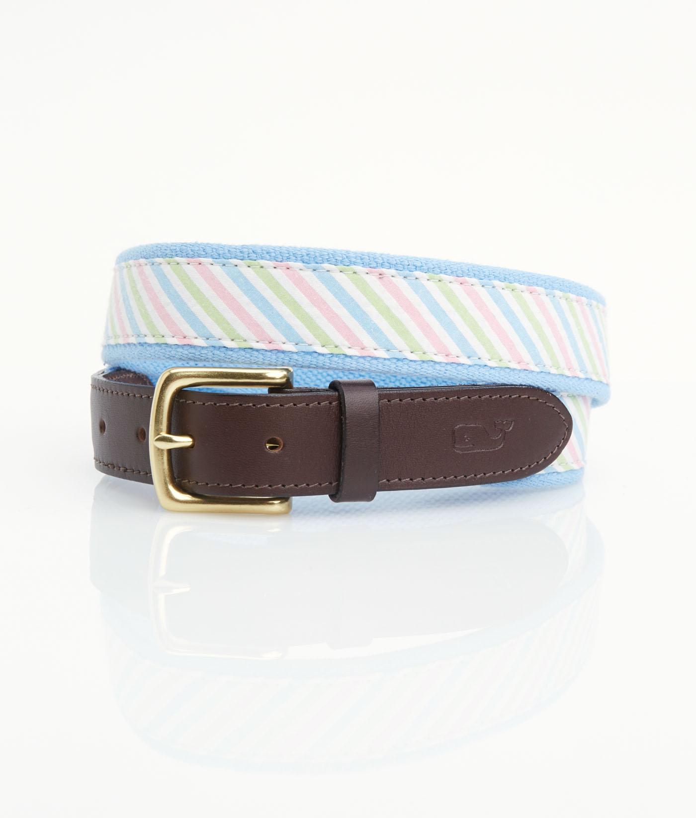 Three-Color Seersucker Belt,1A1003-998 MULT