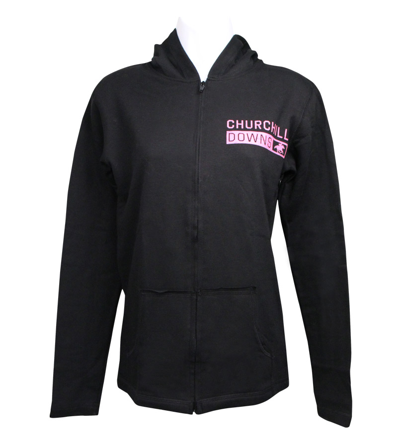 Juniors' Churchill Downs Full-Zip Hooded Sweatshirt,V56B