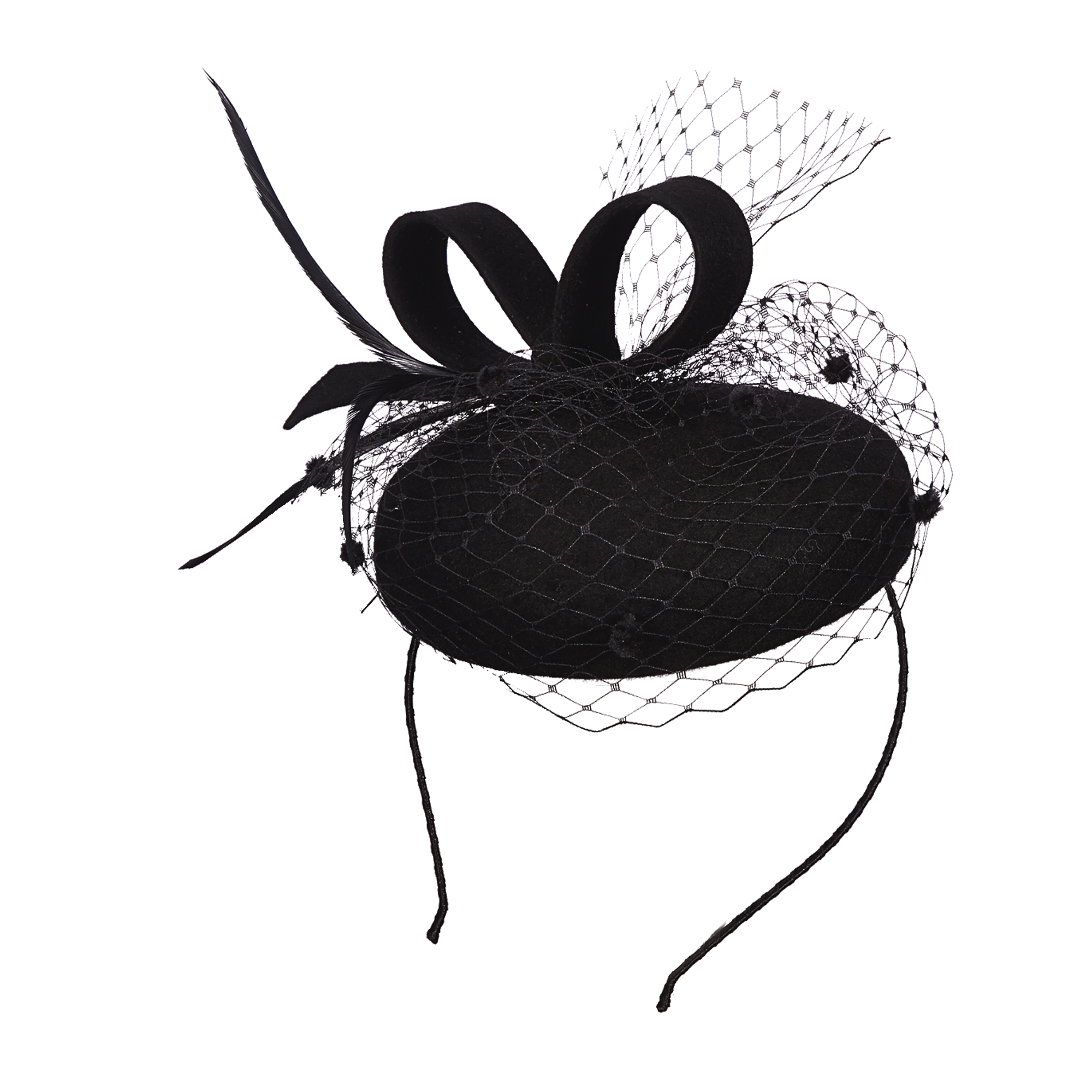 Ladies' Wool Felt Netting Fascinator,LF198ASST