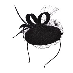 Ladies' Wool Felt Netting Fascinator