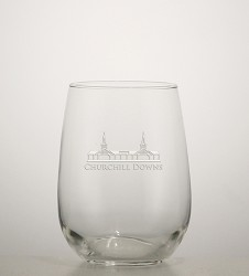 Grandstand Etched Stemless Wine Glass
