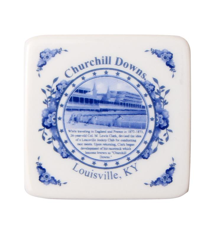 Blue Delft Porcelain Churchill Downs Magnet,KK49069
