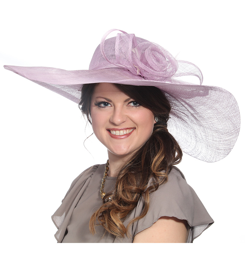The Big Brim Rose Hat,LD75-ORCHID