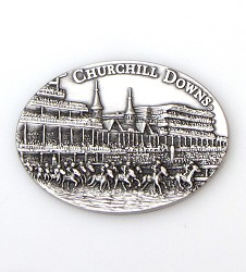 Churchill Downs First Turn Pewter Magnet
