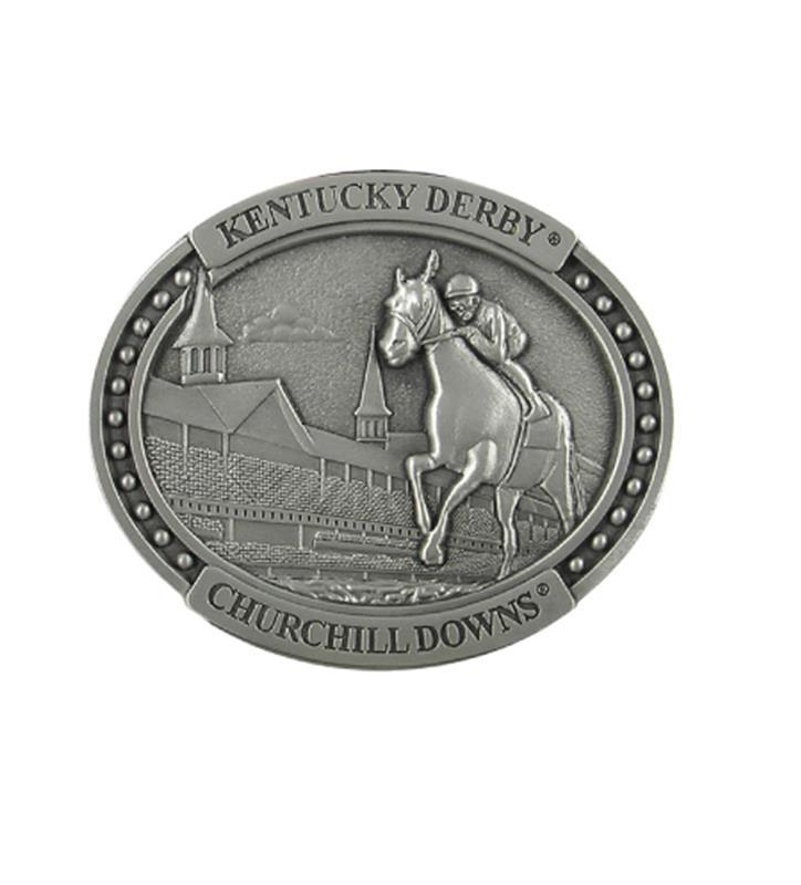 Kentucky Derby First Turn Pewter Lapel Pin,KLP201 PEWTER