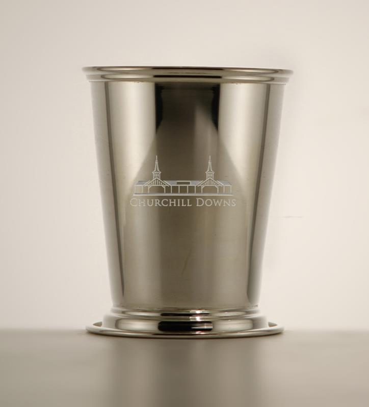 Grandstand Etched Mint Julep Cup,Chocolate & Mint,58-010 LT ETCH 8 OZ