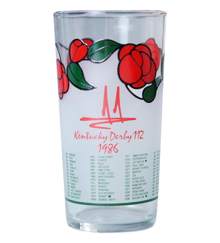 1986 Official Derby Glass