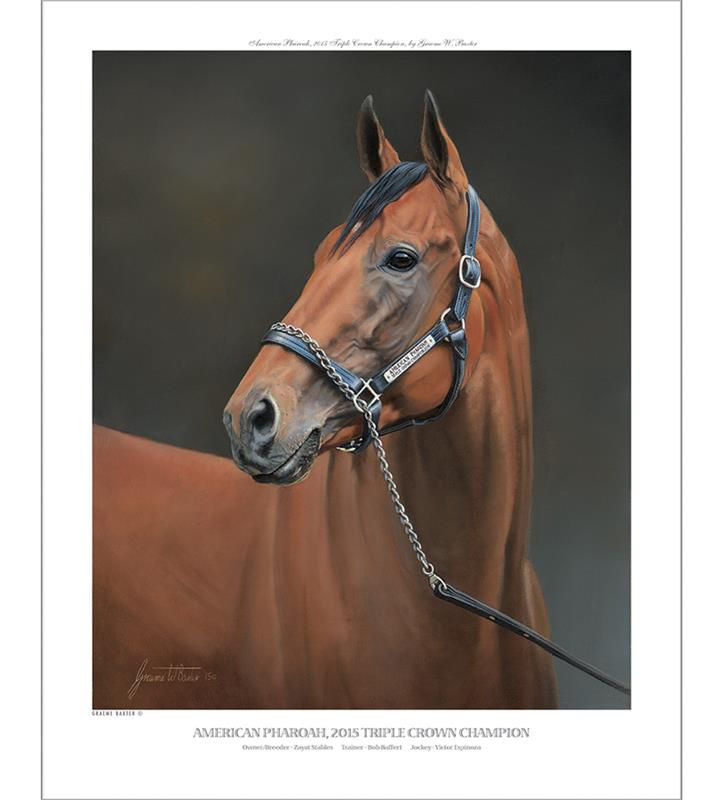 American Pharoah Official Edition Print,1002 BAXTER 16X20""