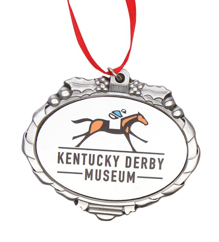 Kentucky Derby Museum Official Logo Pewter Ornament,Kentucky Derby Museum,KDM MARQUEE ORN