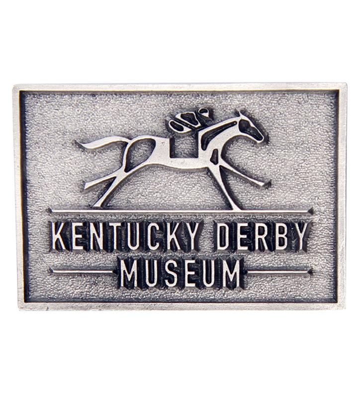 Kentucky Derby Museum Official Logo Pewter Magnet,Kentucky Derby Museum