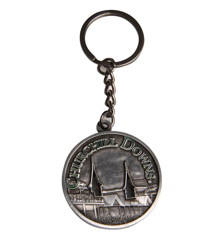 Churchill Downs Raised Spires Keychain,38503913-C1110J2