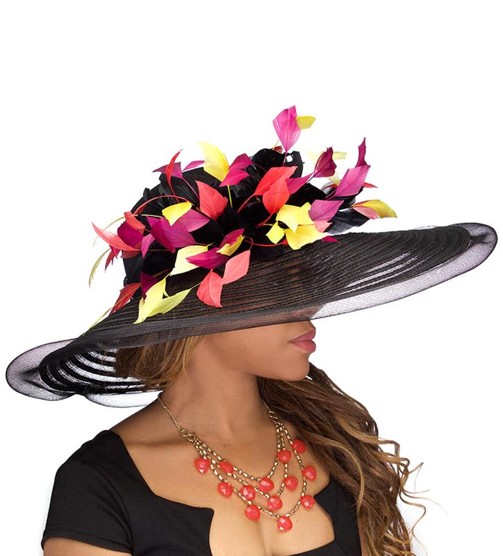 The Harlequin Horsehair Hat,LD91-BLACK