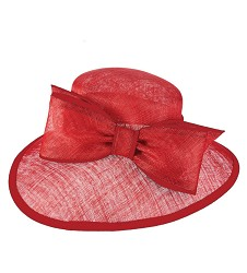 The Dimensional Red Bow Hat,KD88DERBY-RED