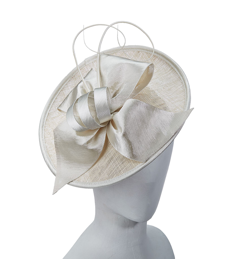 The Curled Quill Fascinator,LDF47-ASST IVORY