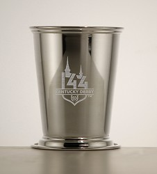 Kentucky Derby 144 Etched Julep Cup,58-010 LT ETCH 8 OZ