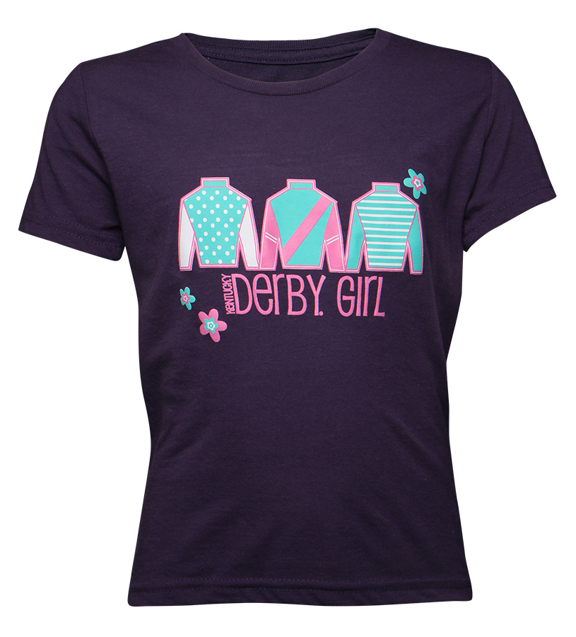 Kentucky Derby Girl Youth Silks Tee,YT24F-DERBYG