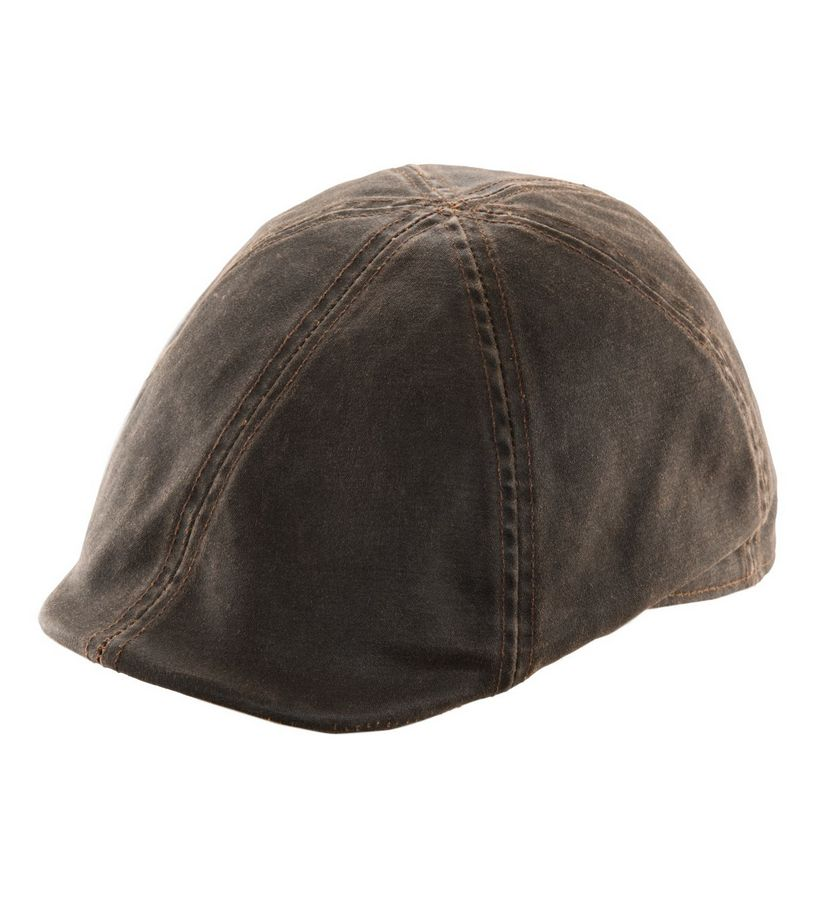 Men's Duckbill Weathered Cotton Cap,MC235-BRN