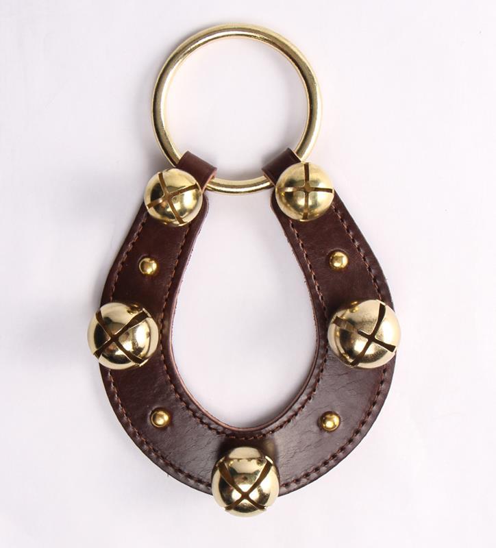 Horseshoe and Bells Door Hanger,91050 BROWN