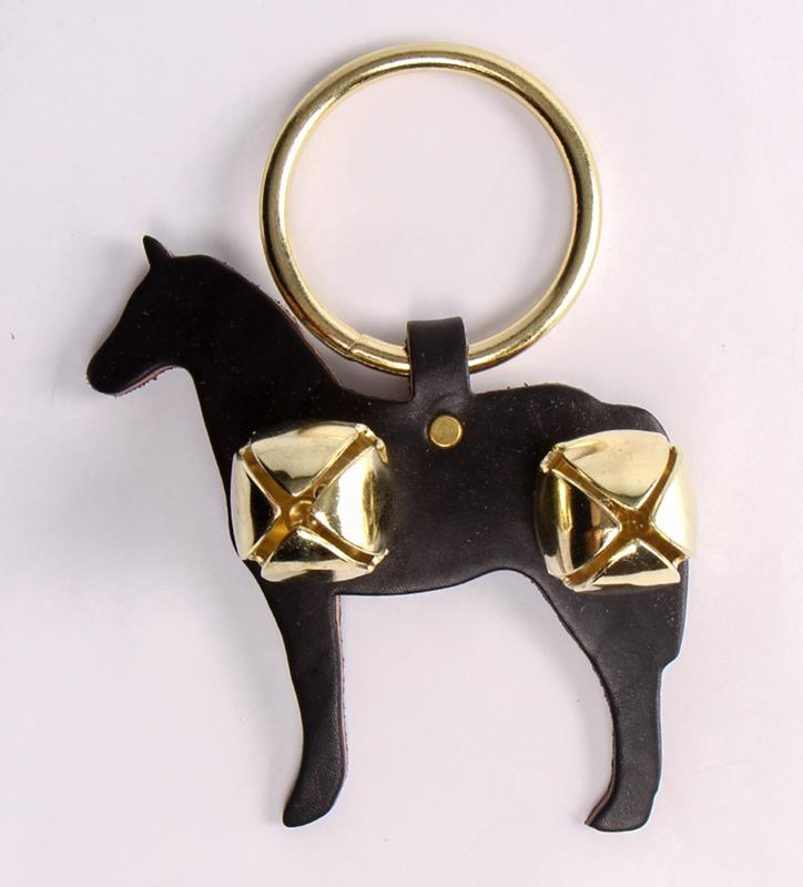 Horse and Bells Door Hanger,91052 BLACK