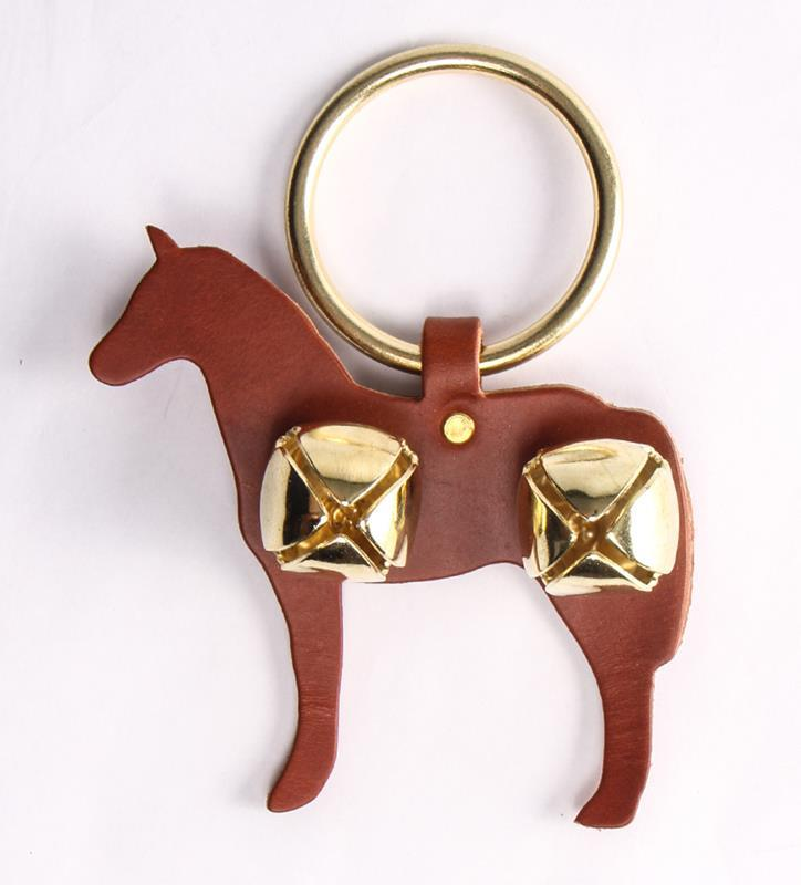 Horse and Bells Door Hanger,91052 CHESTNUT