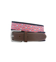 Vineyard Vines 2018 Boaters and Bowties Canvas Belt,Kentucky Derby 144-2018 Vineyard Vines Collection,1A5179-STRAWBERRY
