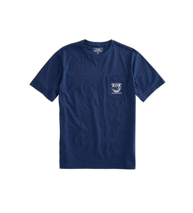 Vineyard Vines 2018 Logo Pocket Tee,1V0912-BLUE BLAZER