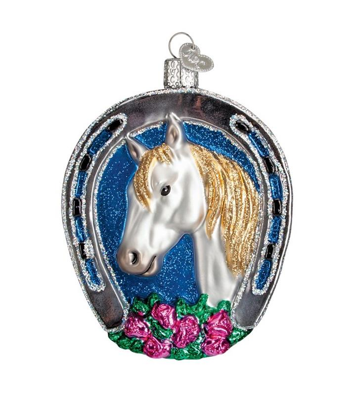Winning Horse Vintage Ornament,12432 WHITE