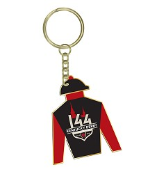 Kentucky Derby 144 Jockey Silks Keyring