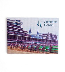 Churchill Downs First Turn Mini Canvas Magnet