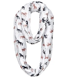 """Lila"" Chiffon Polyester Silhouette Infinity Scarf"