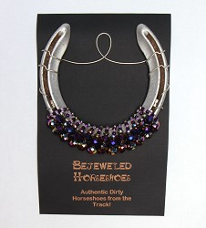 Racing Royalty Purple Bejeweled Horseshoe