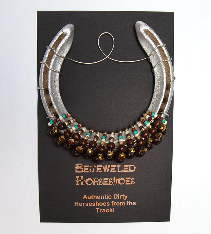 Chestnut Bejeweled Horseshoe,CHESTNUT BROWN