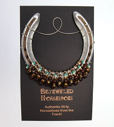 Chestnut Bejeweled Horseshoe