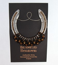 Black Gold Bejeweled Horseshoe