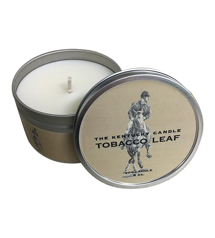 Tobacco Leaf Candle Tin,TOBACCO 3PK 8OZ