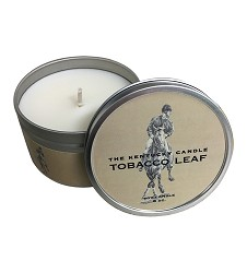 Tobacco Leaf Candle Tin