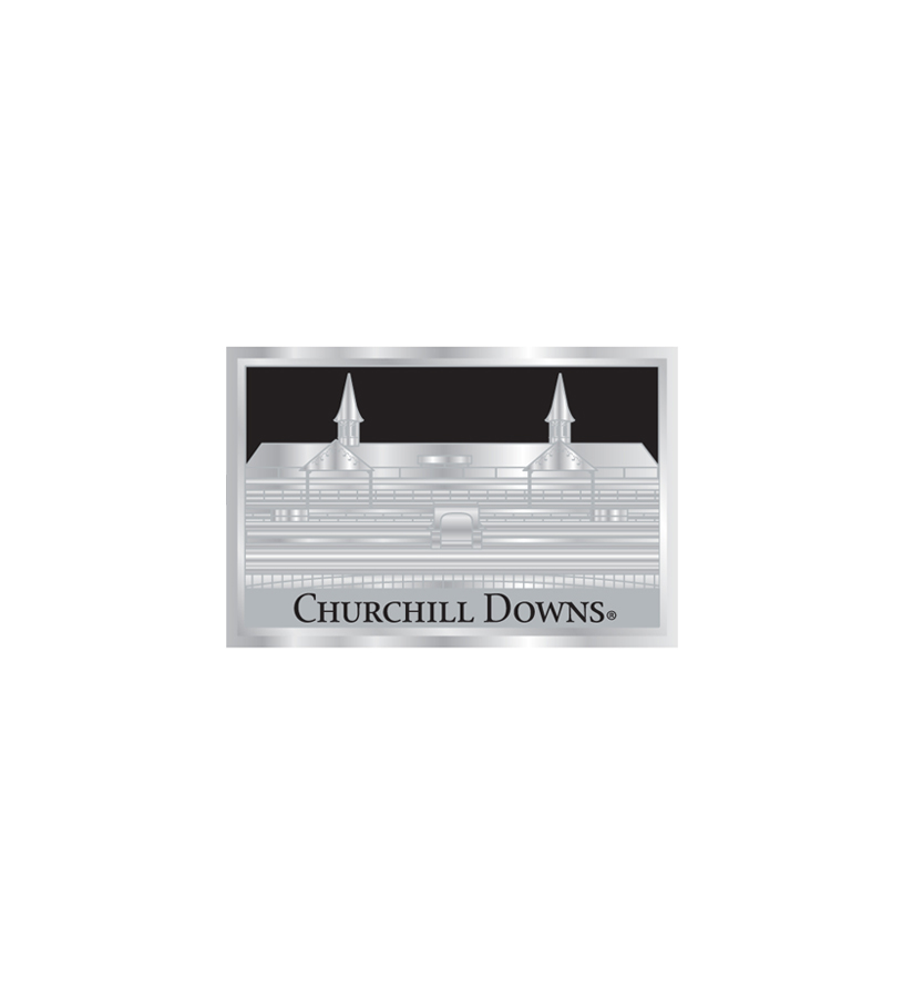 Churchill Downs Silver Vision Magnet,R3837316 SILVER
