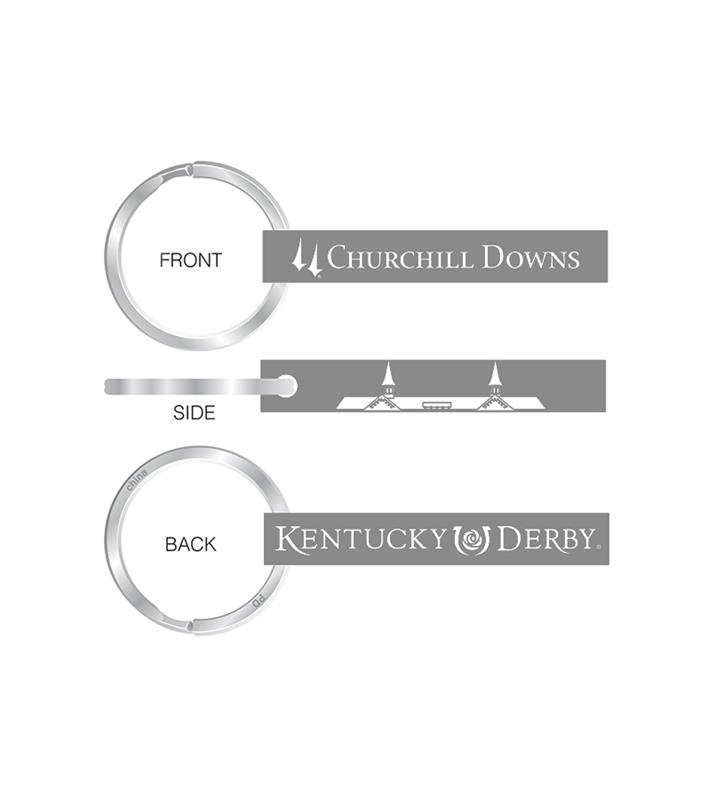 Churchill Downs Silver Bar Keychain,R38373J3 SILVER