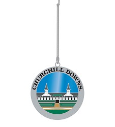 Kentucky Derby Stained Glass Ornament