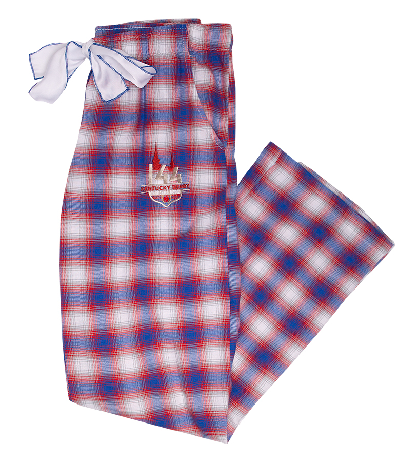 Derby 144 Forge Flannel Embroidered Pants,JFL ROYAL/RED